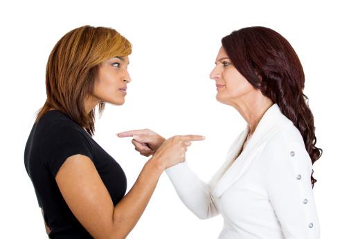 women arguing smaller ThinkstockPhotos-470615849